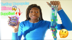 Testing Unpopular Slime Supplies! Glitter Slime + Pom Poms slime!