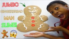 Making A Gingerbread Man Slime!   Challenge