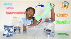 Making Slime Backwards Challenge! Crazy Result!
