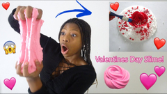 Making Valentine's Day Slime! Red White And Pink Butter Slimes!
