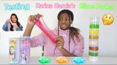 Testing Karina Garcia's Slime Packs! Galactic Slime Pack & Mystery Slime Pack