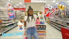 Elmer's Slime Supply Shopping Challenge!