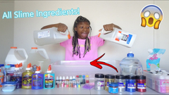 Adding ALL Of My Slime Ingredients Into Slime!