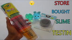 Testing Cheap Store Bought Slimes! *Are They Worth It?*