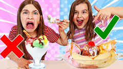 IN OR OUT ICE CREAM Challenge!! | JKrew
