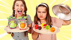 FRUITITOS MINUTOS VS JELLY FRUIT SWITCH UP CHALLENGE! | JKrew