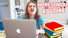 Homeschool Morning Routine with Voiceover! PART 2! | JKrew
