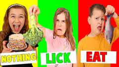 BITE, LICK or NOTHING FOOD CHALLENGE!! | JKrew