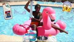 Making Slime At The Pool! Diy Pool Slime!