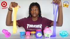 Reviewing New Target  Store Bought Slimes! Play Doh Slime!?