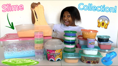 My Spring Slime Collection Of 2020! Crunchy slime + Butter Slime + Glitter Slime