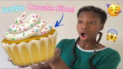 Making A Jumbo Cupcake Slime! Birthday Cake Slime!