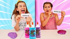 Dump It! Switch Up! Catch It! SLIME Challenge! | JKrew