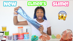 Testing New Elmer's Gue! Store Bought Slime Review!
