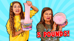 FIX THIS 5 POUND BUCKET OF STORE BOUGHT SLIME CHALLENGE!! | JKrew