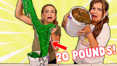 FIX THIS 20 POUND BUCKET OF SLIME CHALLENGE! | JKrew