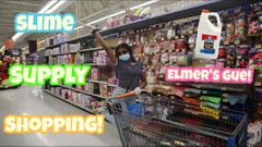 Slime Supply Shopping At Dollar Tree And Walmart!