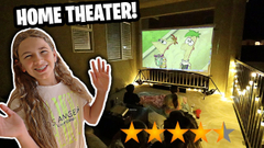 We Turned Our Balcony into a Movie Theater with Goodee | JKrew