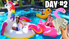 LAST TO FALL IN THE POOL WINS $1000 | JKrew