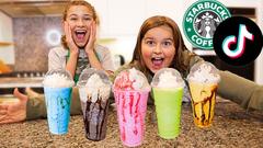 MAKING VIRAL TikTok STARBUCKS DRINKS At HOME! | JKrew