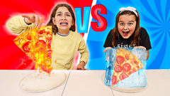 HOT VS COLD FOOD CHALLENGE! || Icy Girl vs Girl On Fire! | JKrew