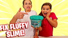 FIX THIS STORE BOUGHT FLUFFY SLIME CHALLENGE! | JKREW