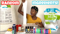 Adding Random Ingredients Into Slime!