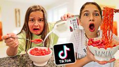 WEIRD TIKTOK FOOD COMBINATIONS PEOPLE LOVE!! **GROSS DIY FOOD** | JKREW