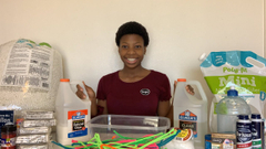 Making Thanksgiving Slimes!