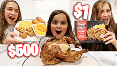 WHO CAN MAKE THE BEST THANKSGIVING DINNER ON A BUDGET! **FUNNY** | JKREW