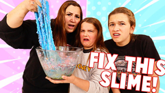 FIX THE BOYS SLIME CHALLENGE!! **SOMEONE ACTED SUS** | JKREW