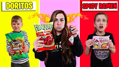 LAST TO STOP EATING SPICY FOOD WINS $1000! **VERY SPICY** | JKREW
